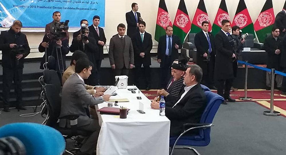 اشرف غنی - ثبت نام اشرف غنی به حیث نامزد انتخابات ریاست جمهوری