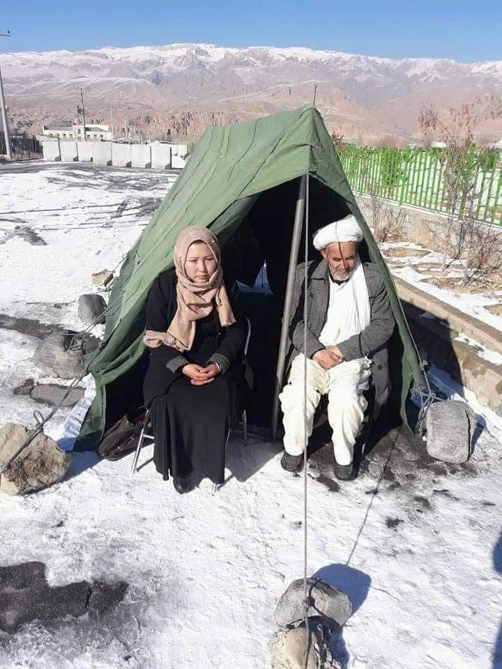 تحصن - تصویر/ عدالت خواهی زیر خیمه تحصن