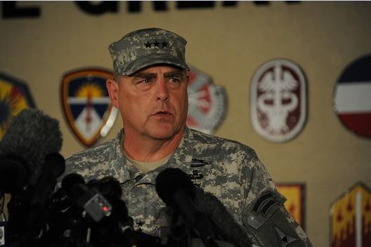 جنرال مارک میلی . - خوشبینی جنرال امریکایی به گفتگوهای صلح با طالبان