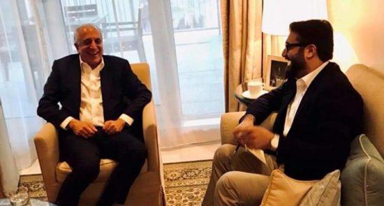حمدالله محب 2 550x295 - دیدار های جداگانه حمدالله محب با نماینده خاص امریکا و مشاور امنیت ملی امارات
