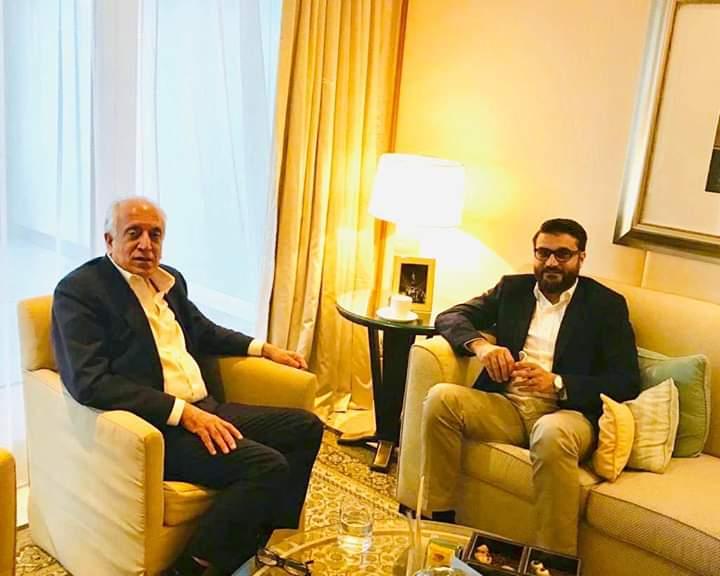 حمدالله محب - دیدار های جداگانه حمدالله محب با نماینده خاص امریکا و مشاور امنیت ملی امارات