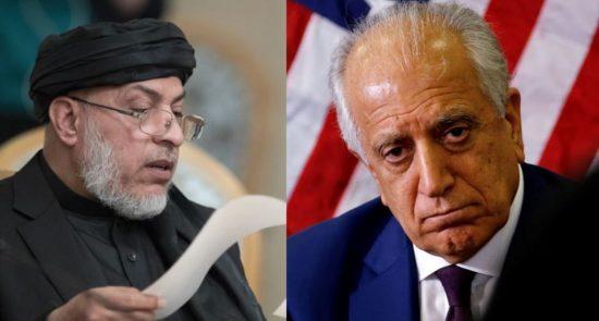 خلیلزاد طالبان 550x295 - آخرین خبرها از نشست پنهانی زلمی خلیلزاد و نماینده گان طالبان در قطر
