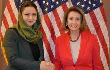 رویا رحمانی نانسی پلوسی 226x145 - دیدار سفیر افغانستان در امریکا با رییس مجلس نماینده گان این کشور