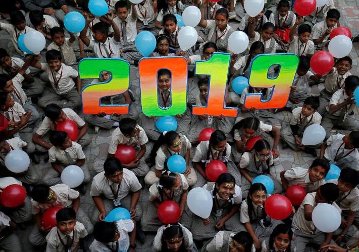 سال نوی عیسوی 14 - تصاویر/ جهان وارد سال ۲۰۱۹ عیسوی شد