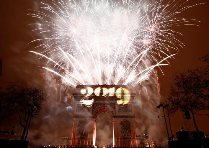 سال نوی عیسوی 6 - تصاویر/ جهان وارد سال ۲۰۱۹ عیسوی شد
