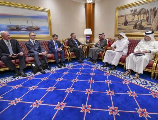 مایک پومپیو 1 - تصاویر/ سفر مایک پومپیو به قطر
