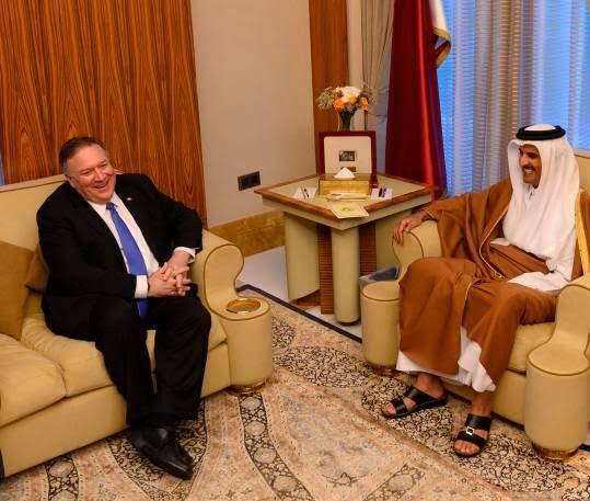 مایک پومپیو 4 - تصاویر/ سفر مایک پومپیو به قطر