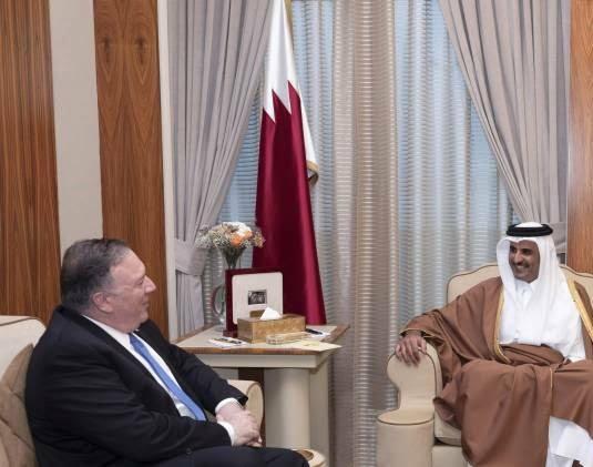 مایک پومپیو 6 - تصاویر/ سفر مایک پومپیو به قطر