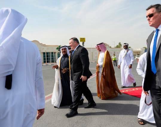 مایک پومپیو 8 - تصاویر/ سفر مایک پومپیو به قطر