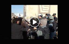 ویدیو/ درگیری عدالت خواهان هرات با پولیس ضد شورش