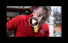 ویدیو غذاخوردن فضا 226x145 - ویدیو/ دردسرهای غذاخوردن در فضا!