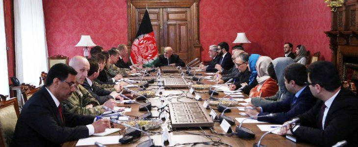 اشرف غنی پاتریک شاناهان - دیدار رییس جمهور غنی با سرپرست وزارت دفاع امریکا