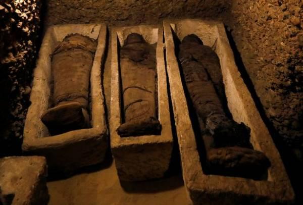 اطفال مومیایی - کشف 12 طفل مومیایی شده 2300 ساله در مصر + تصاویر