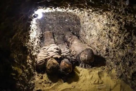 اطفال مومیایی3 - کشف 12 طفل مومیایی شده 2300 ساله در مصر + تصاویر