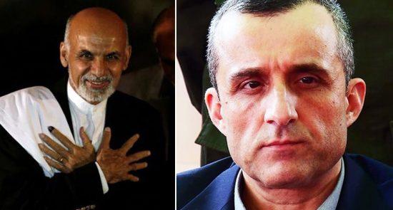 امرالله صالح اشرف غنی 1 550x295 - آیا ادامه کار دولت پیشین در خارج بهمعنای حمایت از اشرف غنی است؟