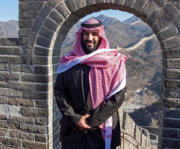 بن سلمان 4 - تصاویر/ بن سلمان روی دیوار چین!