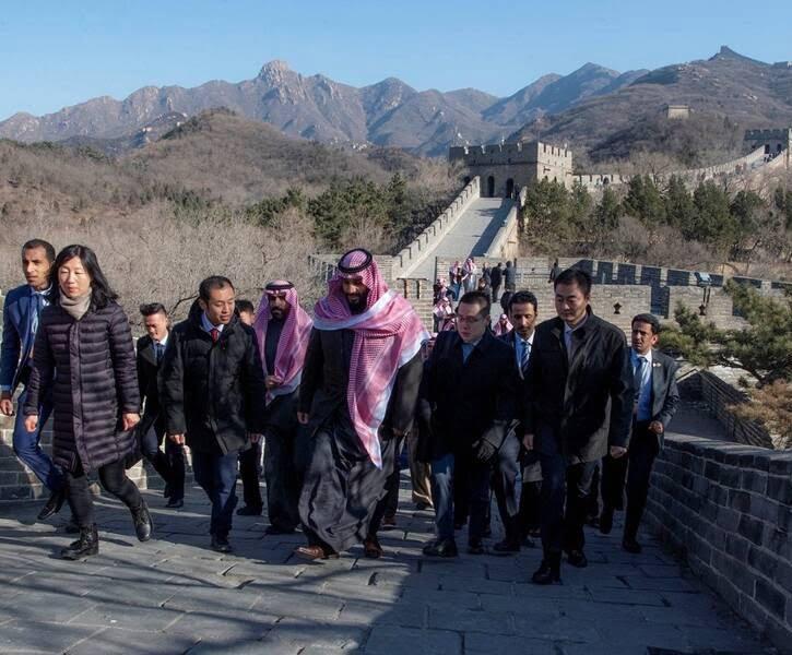 بن سلمان 5 - تصاویر/ بن سلمان روی دیوار چین!