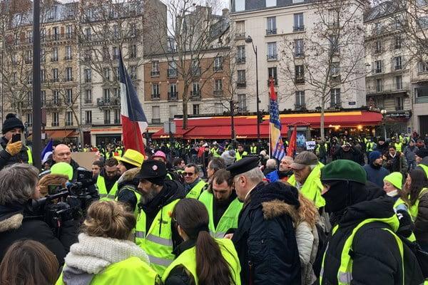 تظاهرات در فرانسه1 - تصاویر/ دوازدهمین شنبه تظاهرات در فرانسه