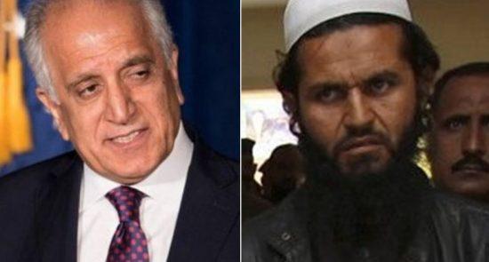 خلیل زاد ملا برادر 550x295 - سیگار: توافق واشینگتن با طالبان منجر به برقراری صلح نمی شود