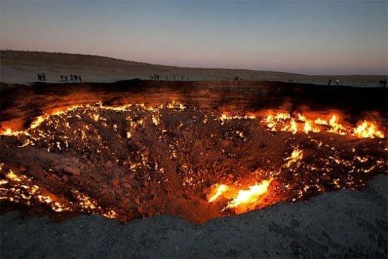 دروازه جهنم 1 - دروازه جهنم در ترکمنستان + تصاویر