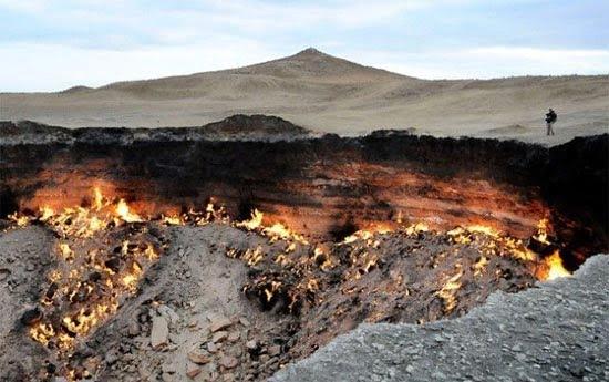 دروازه جهنم 5 - دروازه جهنم در ترکمنستان + تصاویر