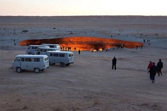 دروازه جهنم - دروازه جهنم در ترکمنستان + تصاویر