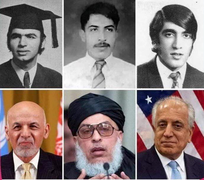 زلمی خلیل زاد اشرف غنی عباس استانکزی  - تصویر/ سه یار قدیمی!