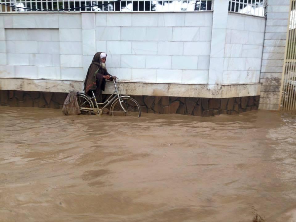 سیلاب در هرات 1 - خانه هایی که غرق در آب شد؛ بارندگی شدید در هرات