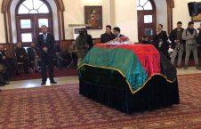 صبغت الله مجددی پیکر 226x145 - برگزاری مراسم تشیع پیکر صبغتالله مجددی در ارگ ریاست جمهوری