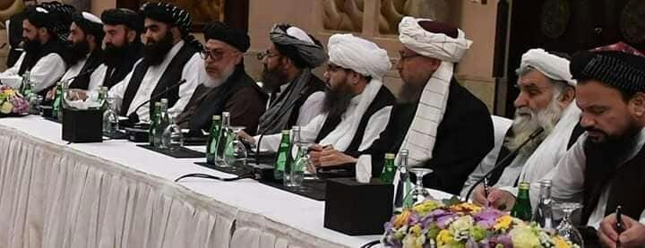 طالبان - تصویر/ هیات مذاکره کننده طالبان در قطر