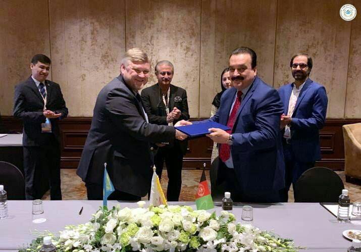 افغانستان و قزاقستان - امضاء تفاهمنامه همکاری میان کمیته ملی المپیک افغانستان و قزاقستان