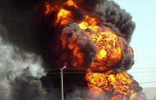 انفجار 226x145 - انفجار یک انبار سلاح و مهمات عربستان در اطراف جیزان