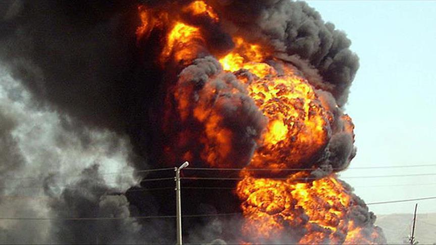 انفجار - انفجار یک انبار سلاح و مهمات عربستان در اطراف جیزان