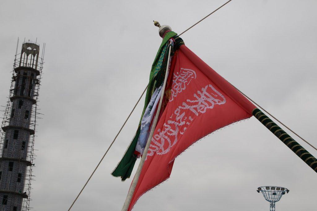 برافراشتن جنده 12 1024x683 - تصاویر/ برافراشتن جهنده در مزارشریف با حضور داشت رییس جمهور غنی