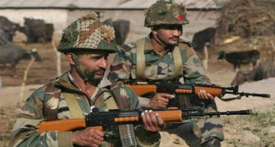 درگیری هند پاکستان 550x295 - کشته شدن ۳ عسکر هندی در کشمیر