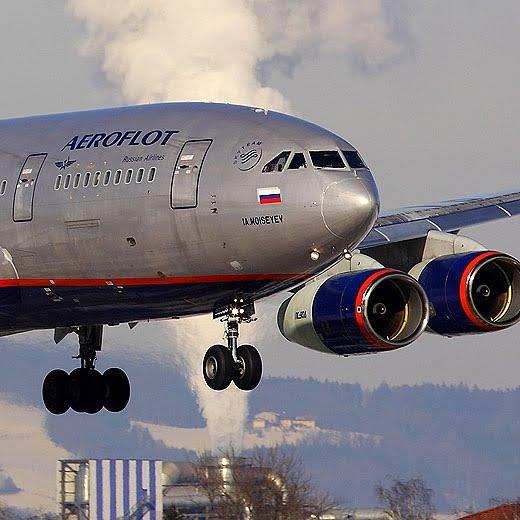 روسیه طیاره - فرود اضطراری طیاره روسی به دلیل بم گذاری