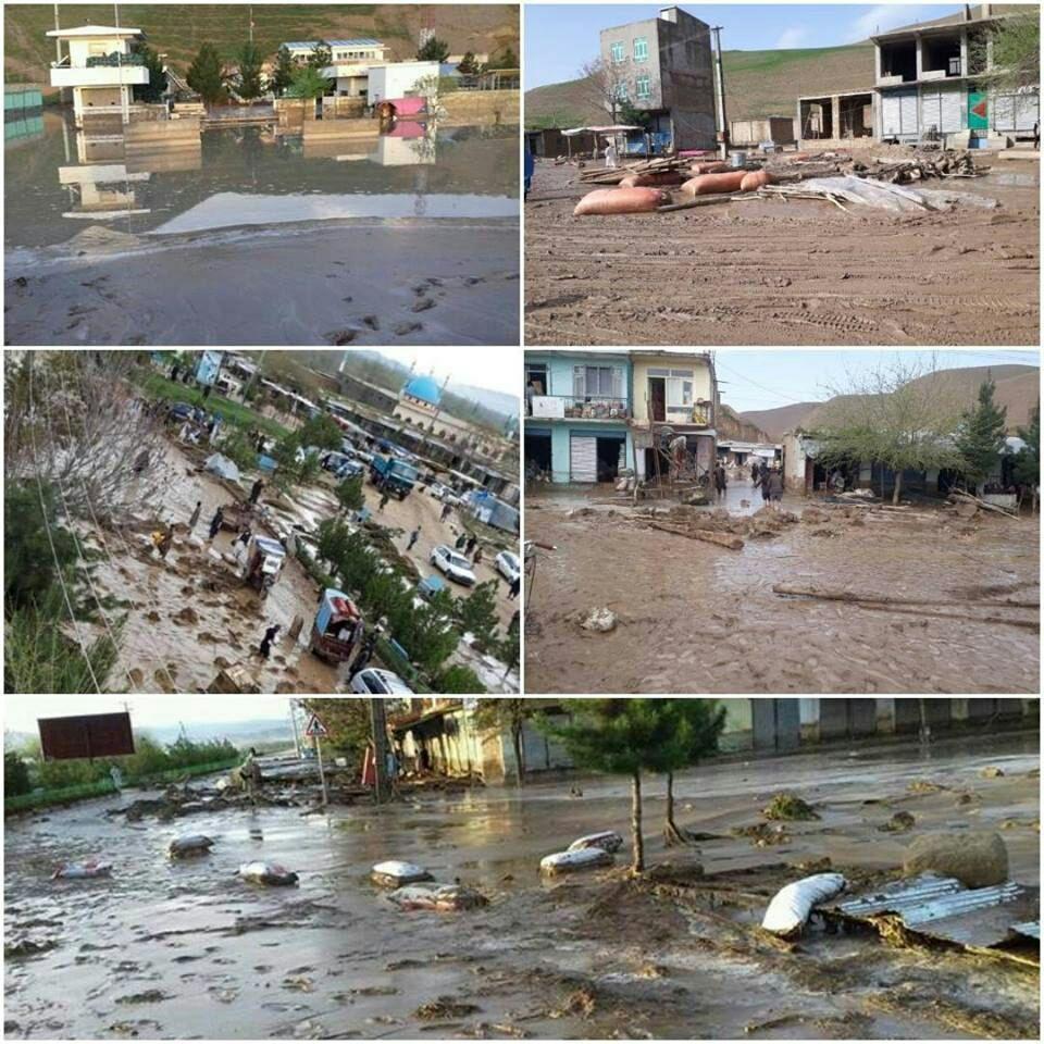سیل فاریاب 1 - سیلاب های ویرانگر بر اثر بارش باران شدید در فاریاب + تصاویر