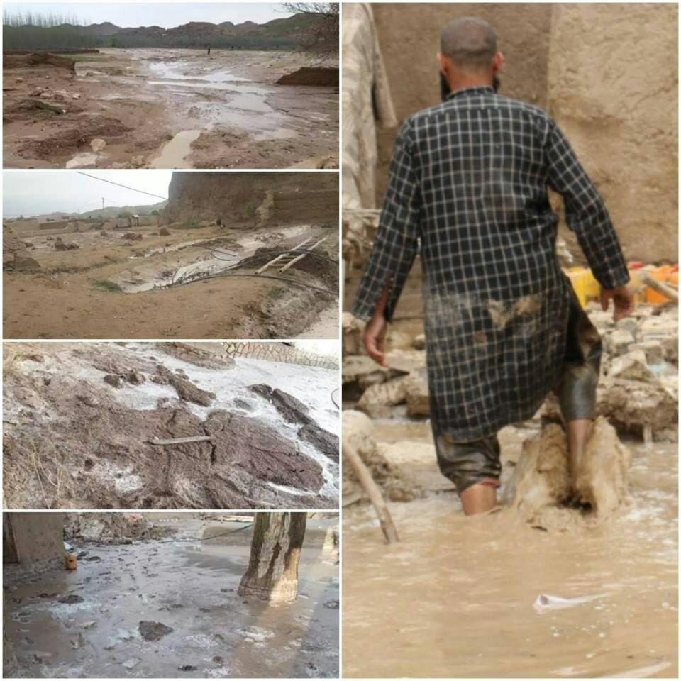 سیل فاریاب 2 - سیلاب های ویرانگر بر اثر بارش باران شدید در فاریاب + تصاویر