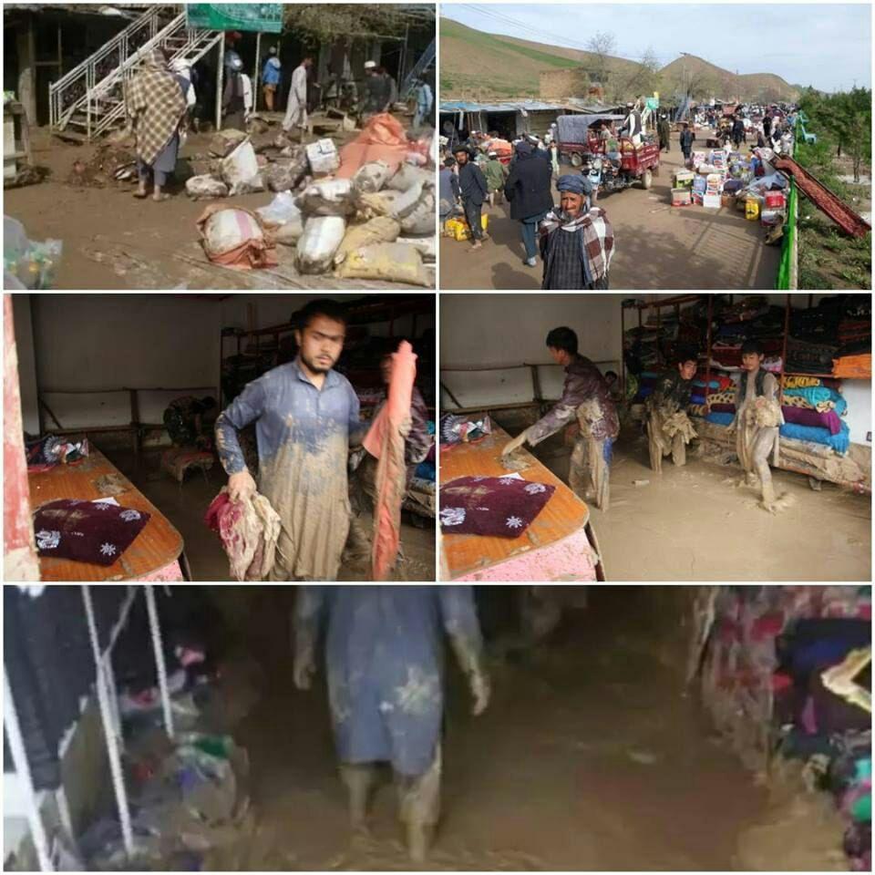 سیل فاریاب 3 - سیلاب های ویرانگر بر اثر بارش باران شدید در فاریاب + تصاویر