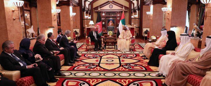 شیخ محمد بن راشد آل مکتوم - دیدار رییس جمهور غنی با شیخ محمد بن راشد آل مکتوم