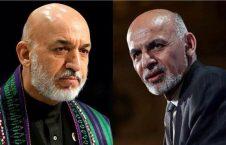 غنی کرزی 226x145 - بررسی اقدامات آینده در خصوص صلح افغانستان در دیدار اشرف غنی و حامد کرزی