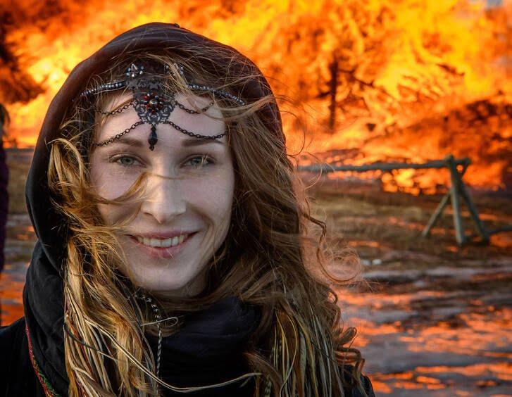 مردم روسیه 1 - تصاویر/ خداحافظی مردم روسیه با موسم زمستان