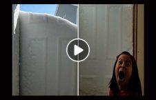 ویدیو دختر نوجوان دیوار برفی 226x145 - ویدیو/ تعجب دختر نوجوان از ظاهر شدن دیوار برفی