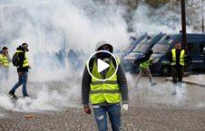 ویدیو فیر معترضین واسکت زرد فرانسه 226x145 - ویدیو/ فیر ماموران امنیتی به معترضین واسکت زرد در فرانسه