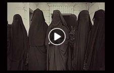 ویدیو/ پنهان شدن داعشی ها در لباس زنانه
