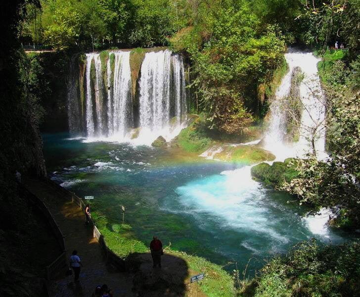 آبشارهای دودن2 - تصاویر/ آبشارهای زیبای دودن در ترکیه