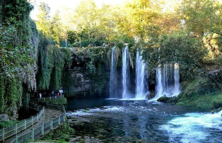 آبشارهای دودن3 - تصاویر/ آبشارهای زیبای دودن در ترکیه