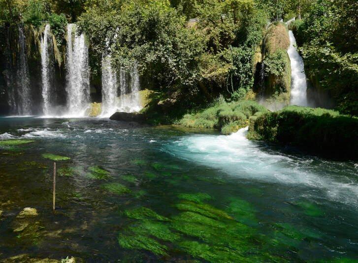 آبشارهای دودن4 - تصاویر/ آبشارهای زیبای دودن در ترکیه