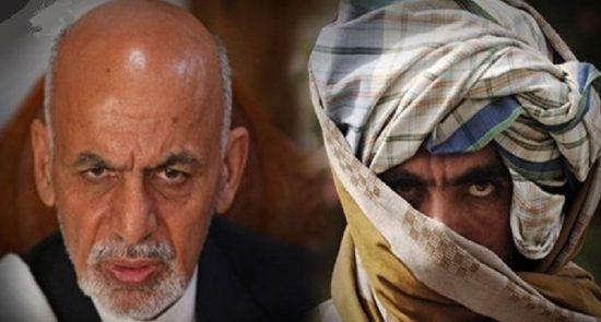 اشرف غنی طالبان 1 550x295 - پیام یک عضو ارشد طالبان برای رییس جمهور غنی