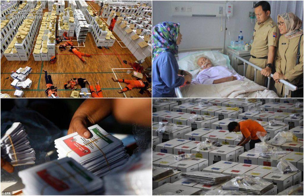 اندونزیا 1 1024x663 - شمارش آرای انتخابات اندونزیا جان ۲۷۲ کارمند را گرفت